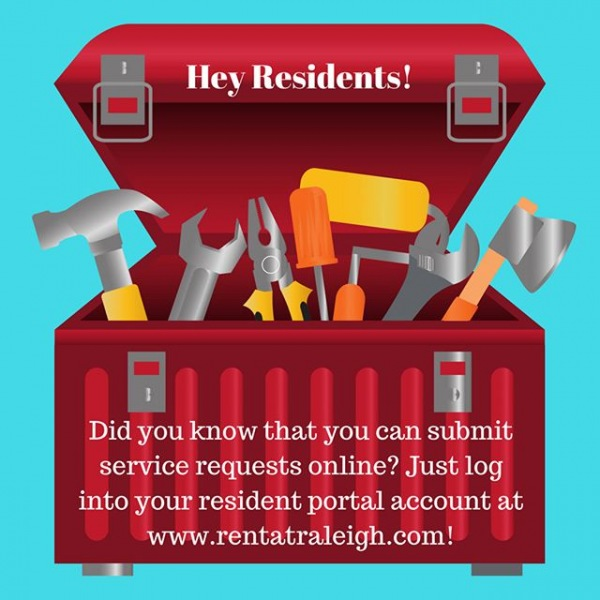 Did you know? You can submit service requests online through your resident portal account! . . . #rhouse #rentatraleigh #residentportal #nowleasing