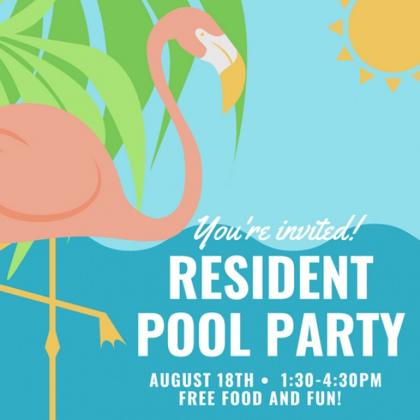 Residents, please join us for our annual summer pool party! We will have hamburgers and hot dogs, snow cones provided by Kona Ice, and fun games and prizes! . . . #rhouse #rentatraleigh #summerfun #pooldaze #dfwapartments